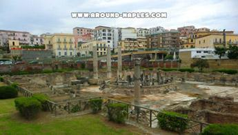 The Phlegrean Fields and the archaeological remains of Macellum in Pozzuoli.