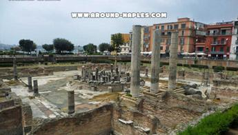 The Phlegrean Fields and the Macellum of Pozzuoli, ancient market, also called Temple of Serapis.